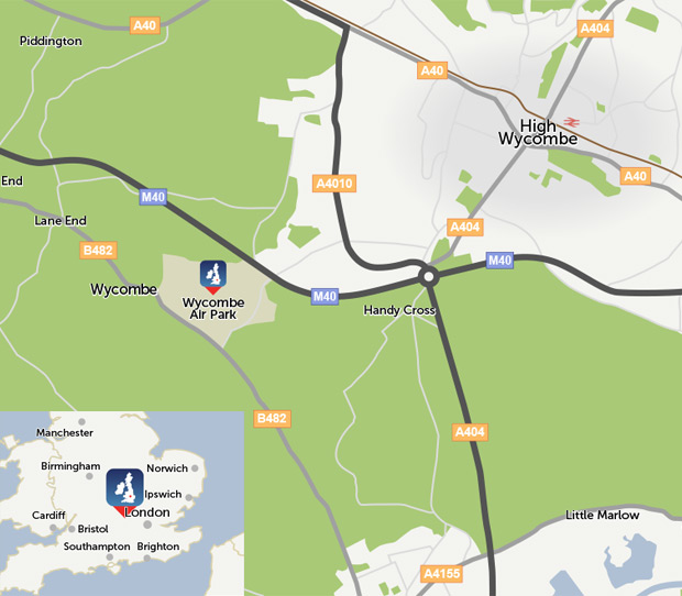 Wycombe Air Park location map