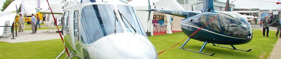 Helicopters at Heli UK Expo