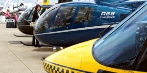 Helicopters on Static Display at AeroExpo UK