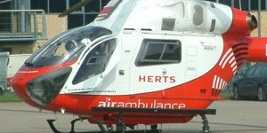 Herts Air Ambulance helicopter